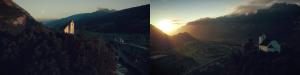 """Fill light vs Back light – Frames de """"RUNNING INTO THE AIR – A Flight Over Switzerland"""""""